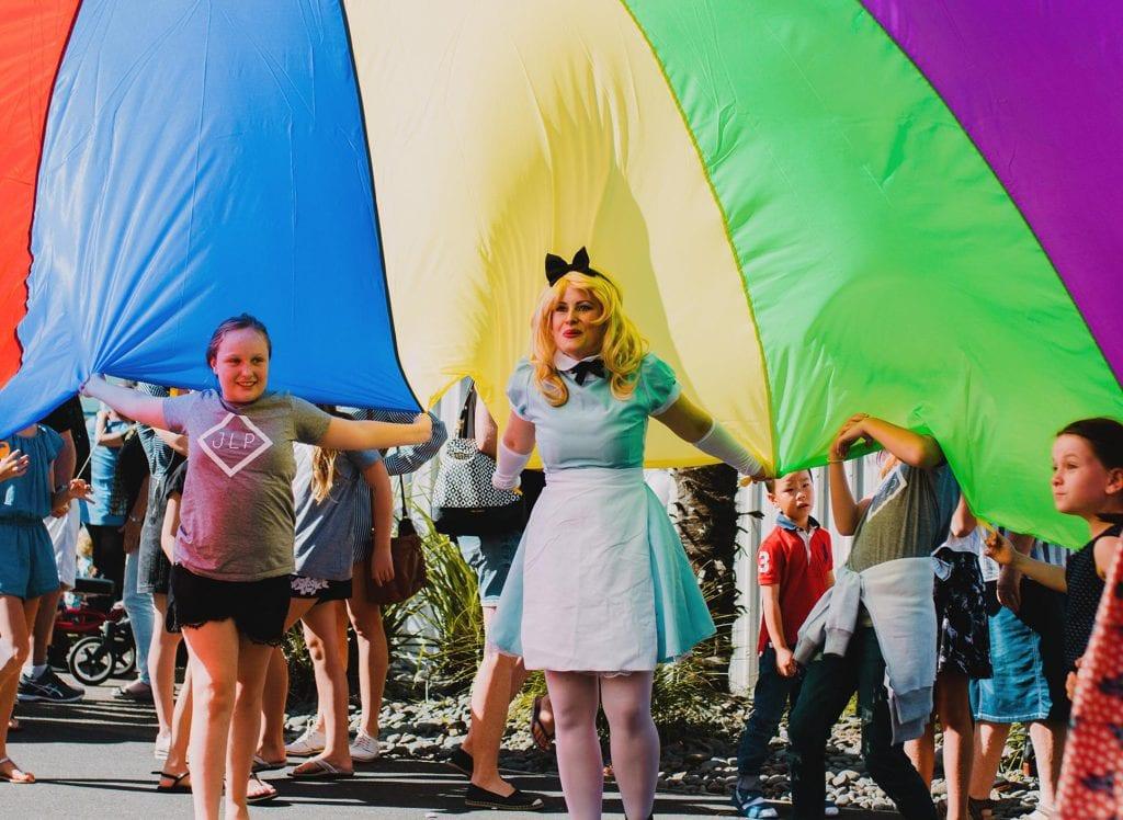 Alice in Wonderland parachute