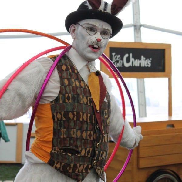 White Rabbit hula hoops