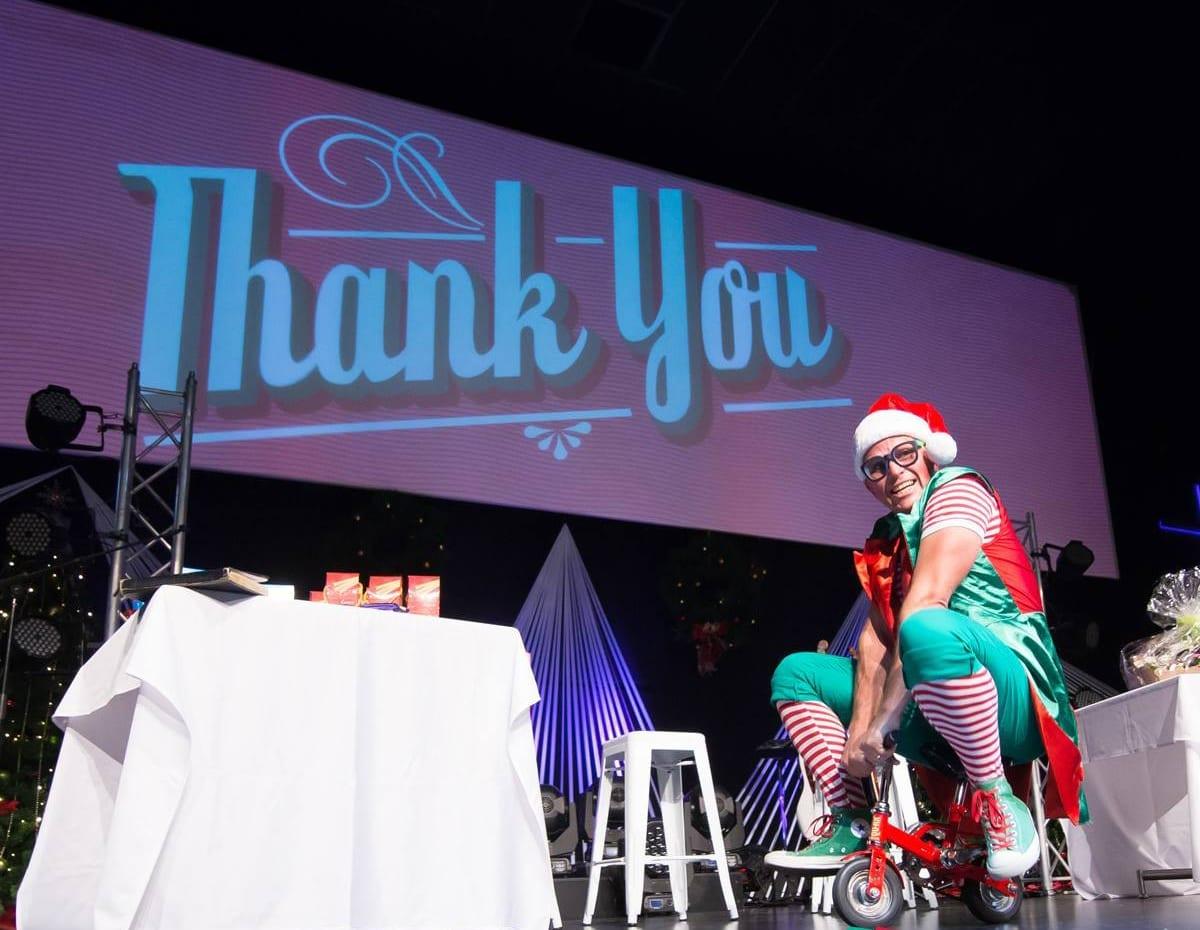 Xmas Elf on stage