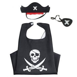 pirate cape and mask set