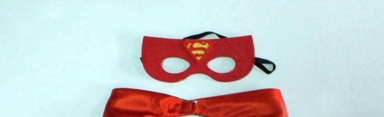 Superhero Part cape and mask set
