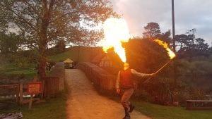 Fire performer international hobbit day